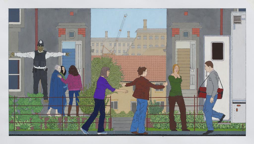 Possible future - Emancipation 100 x 54 cm Gouache on paper 2013