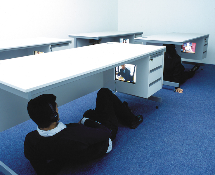 Desk Project, installation view year shown - 2005 Saki Satom (solo), Gasworks Gallery, London, UK.