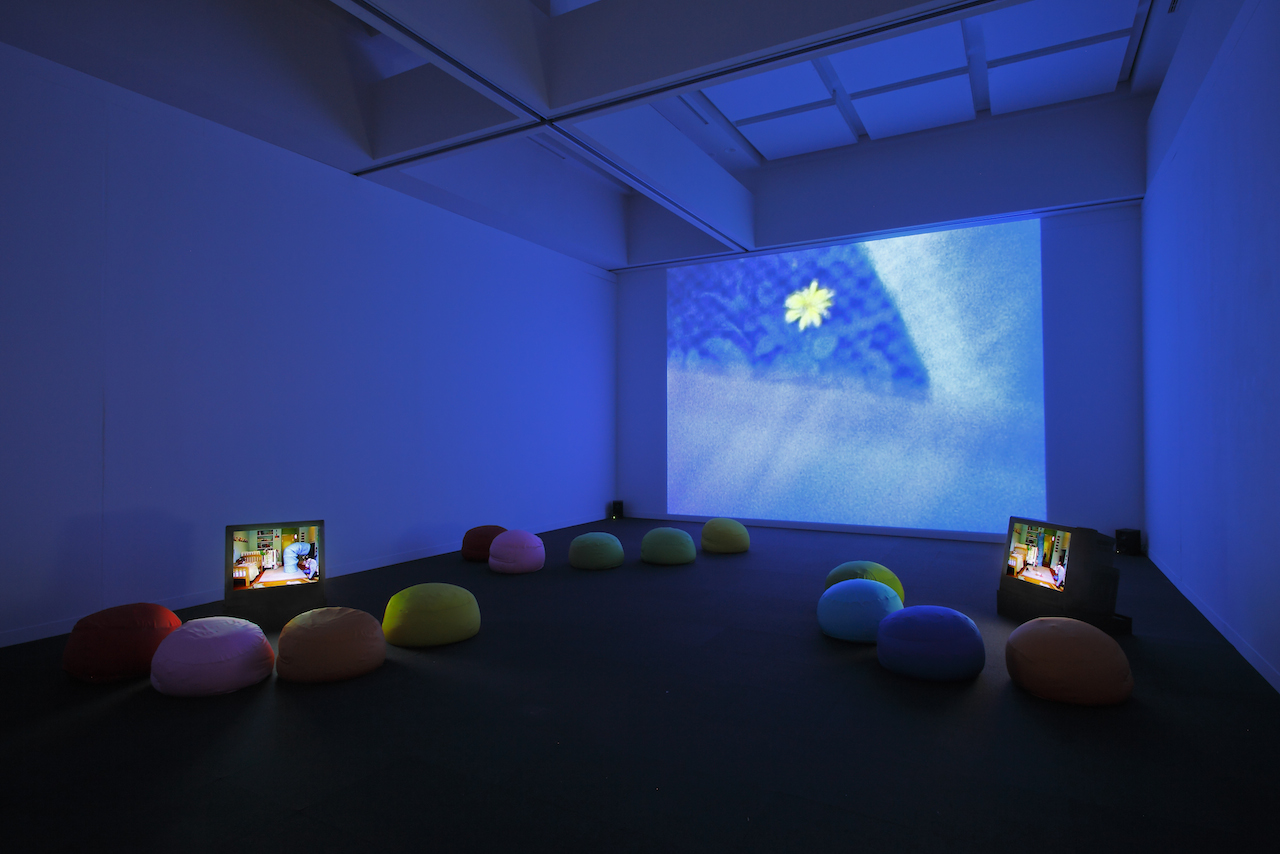 Garden and Maya's Room (single projection and 2 monitors) installation view. MOT collection. year shown - 2010