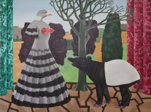 the Tapir's Companion, oil on canvas, 183 x 244cm