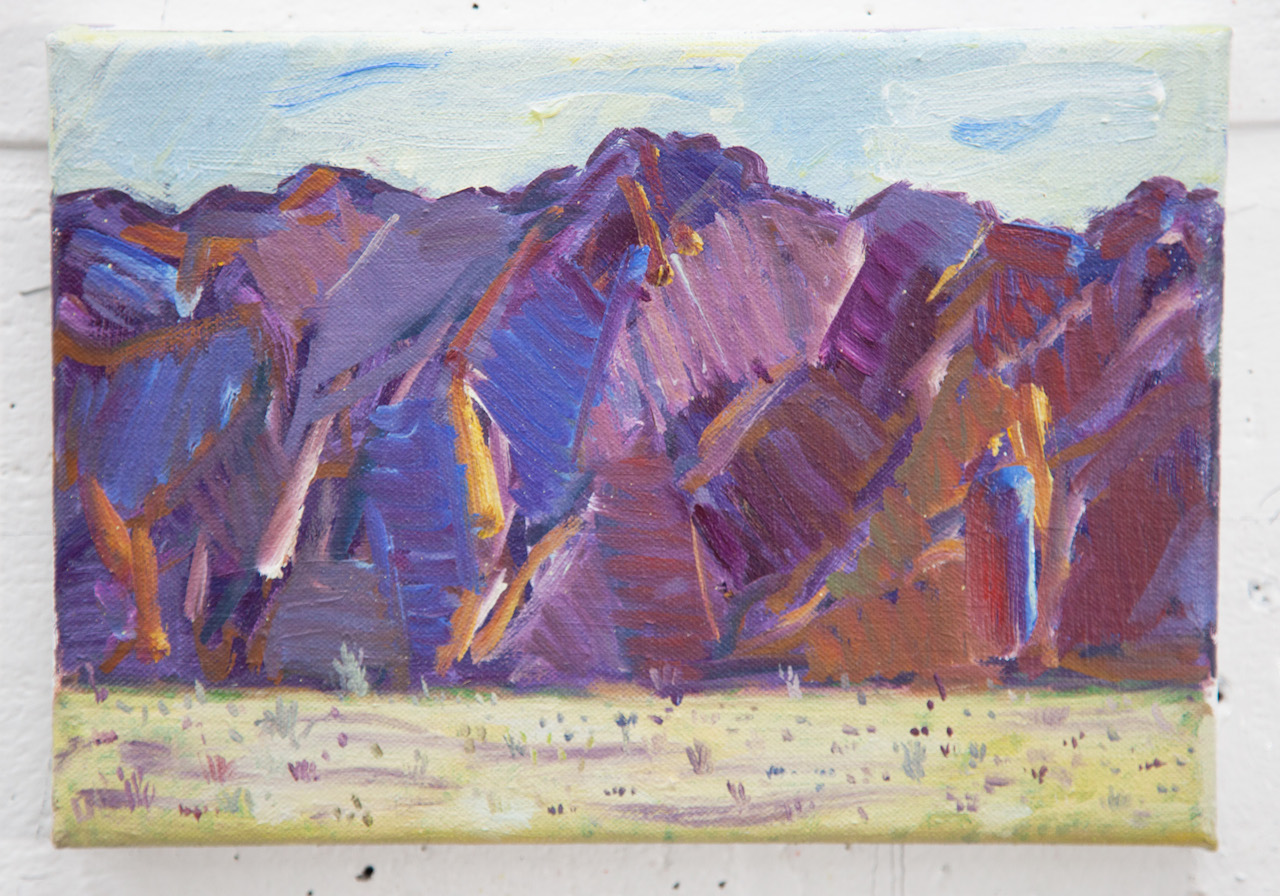 "Death Valley, 2013, oil on canvas, 7"" x 10"""