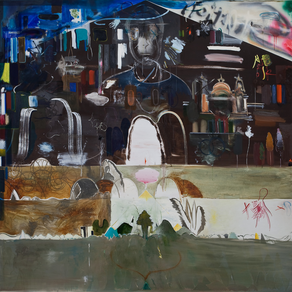 the Station, 2011 – 2012, oil and spray on canvas, 200x200cm