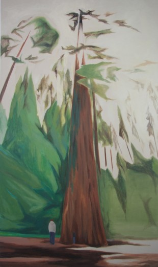 'Big Tree', 270 x 160cm, oil on canvas