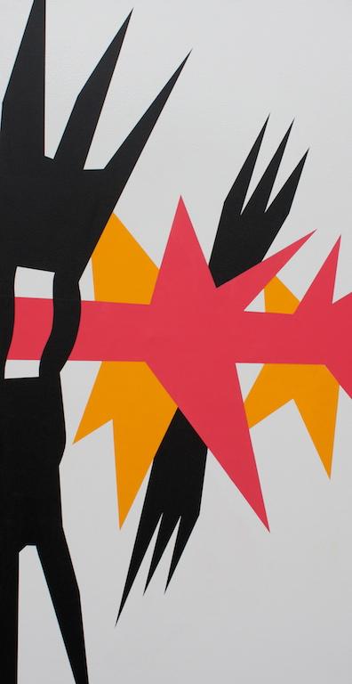 Spikes, 2012. 76 x 145 cm Oil on canvas