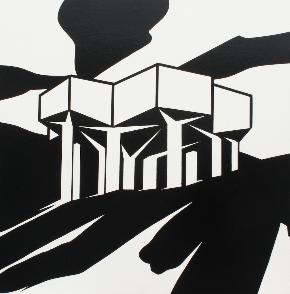 The Water Tower, 2011. 125 x 125 cm Gloss on canvas