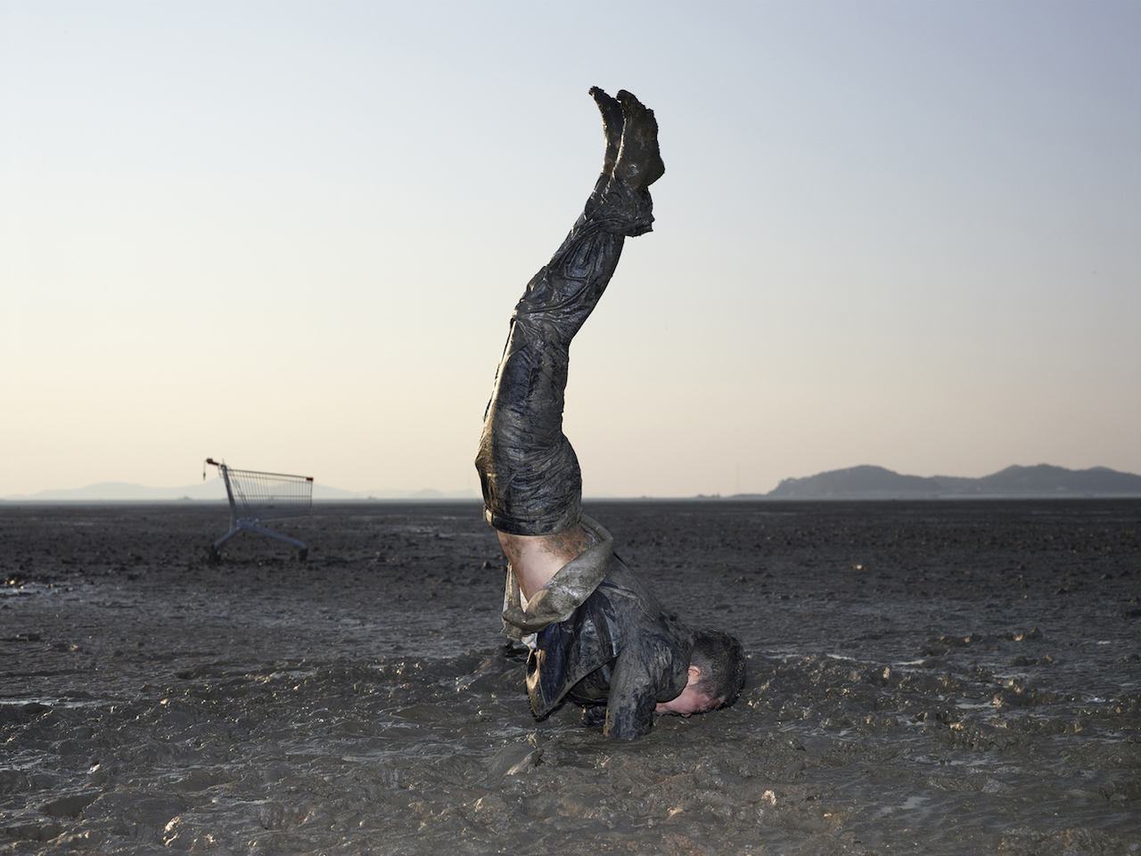 'Supported Armstand Pose', photograph, archival pigment print, 127x152cm, 2011