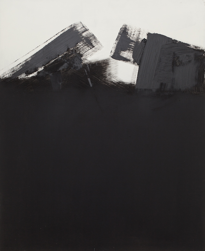 Untitled from the Tank Series, oil, ink, shellac, and emulsion on board, 110 x 90 cm, 2012
