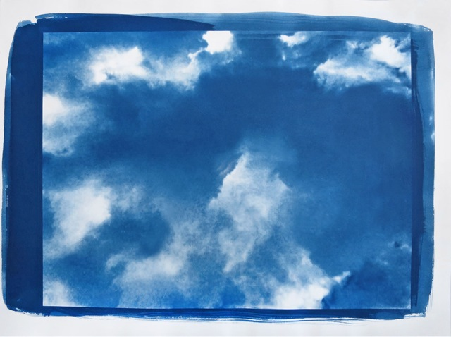 Wolken, 2015, cyanotype print, hand printed on Arches Platine paper, edition of 10, 75 x 112 cm